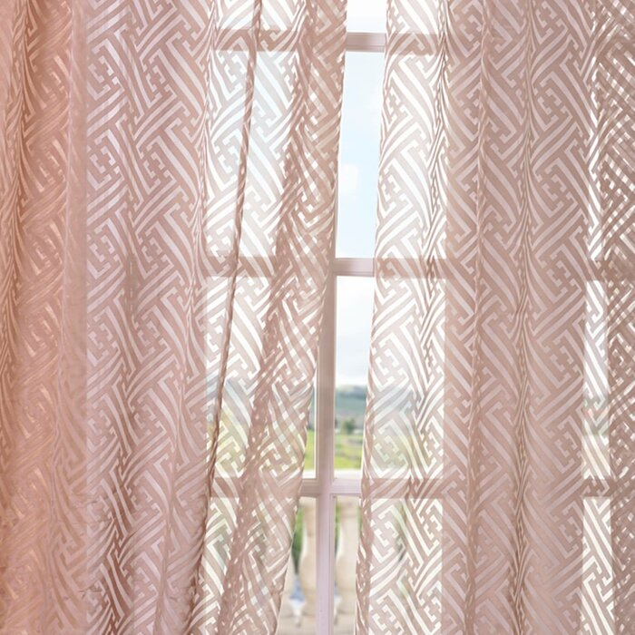 pdp pocket sheer drapes geometric half rod zara price curtain single patterned curtains treatments panel window