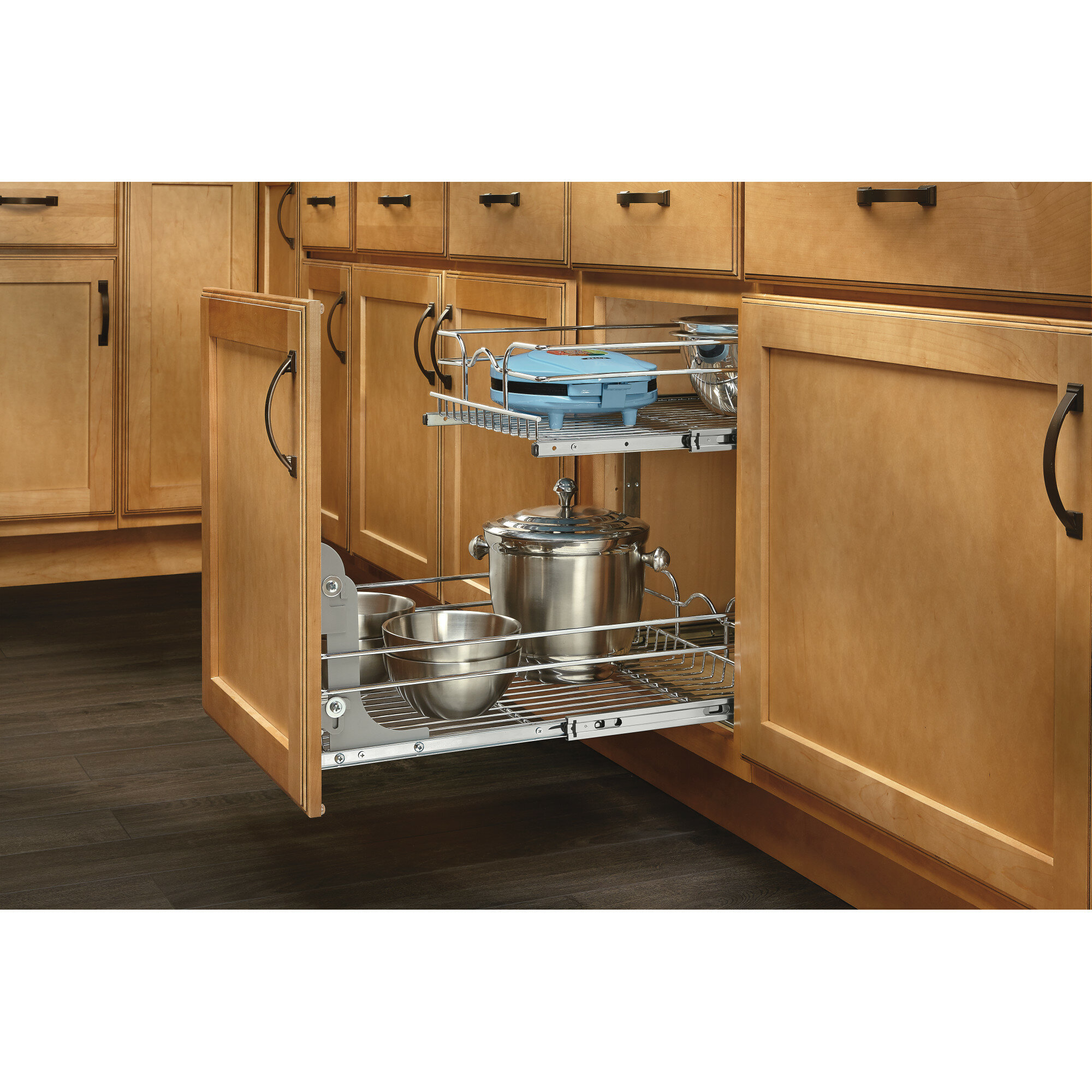 Kitchen Cabinet Pull Out Shelf: Rev-A-Shelf 2 Tier Pull Out Drawer