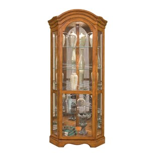 Barrington Lighted Corner Curio Cabinet