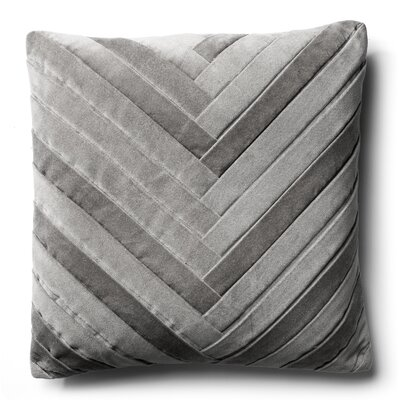 Brayden Studio Northwick Cotton Pillow Cover Color: Silver Gray