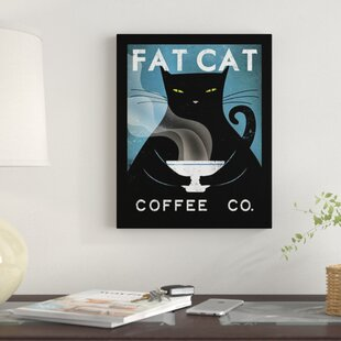 Fat Cat Coffee Company By Ryan Fowler Framed Vintage Adver