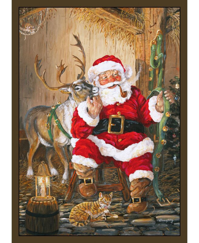 The Holiday Aisle Santa And Reindeer Area Rug & Reviews