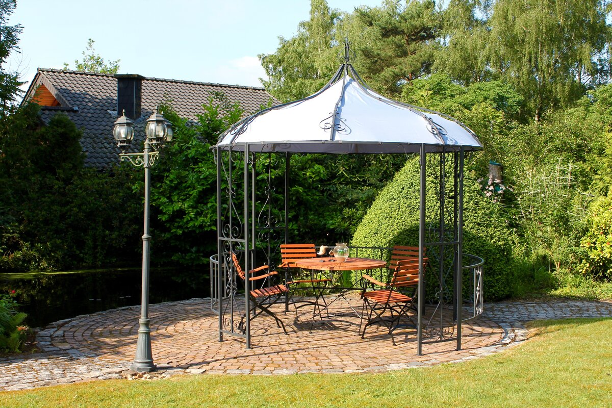 all home 3 m x 3 m pavillon schlossgarten aus metall. Black Bedroom Furniture Sets. Home Design Ideas