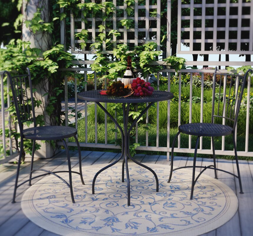French Bistro Table And Chairs three posts bluff canyon 3 piece french café bistro set & reviews