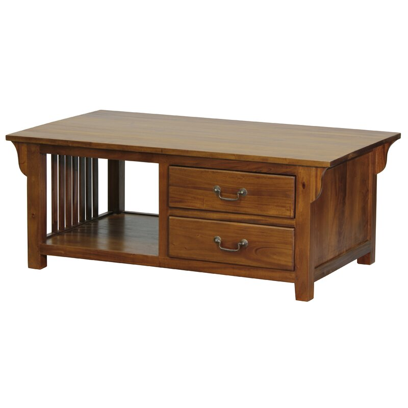 Milles Fine Handcrafted Solid Mahogany Wood Coffee Table