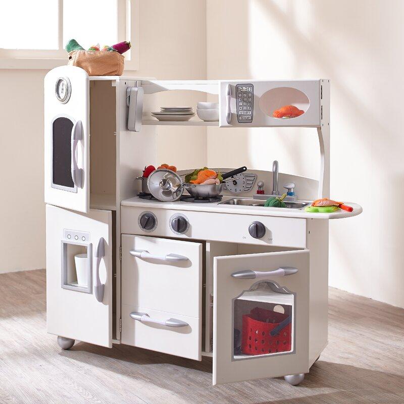 wooden play kitchen set - Wooden Kitchen Set