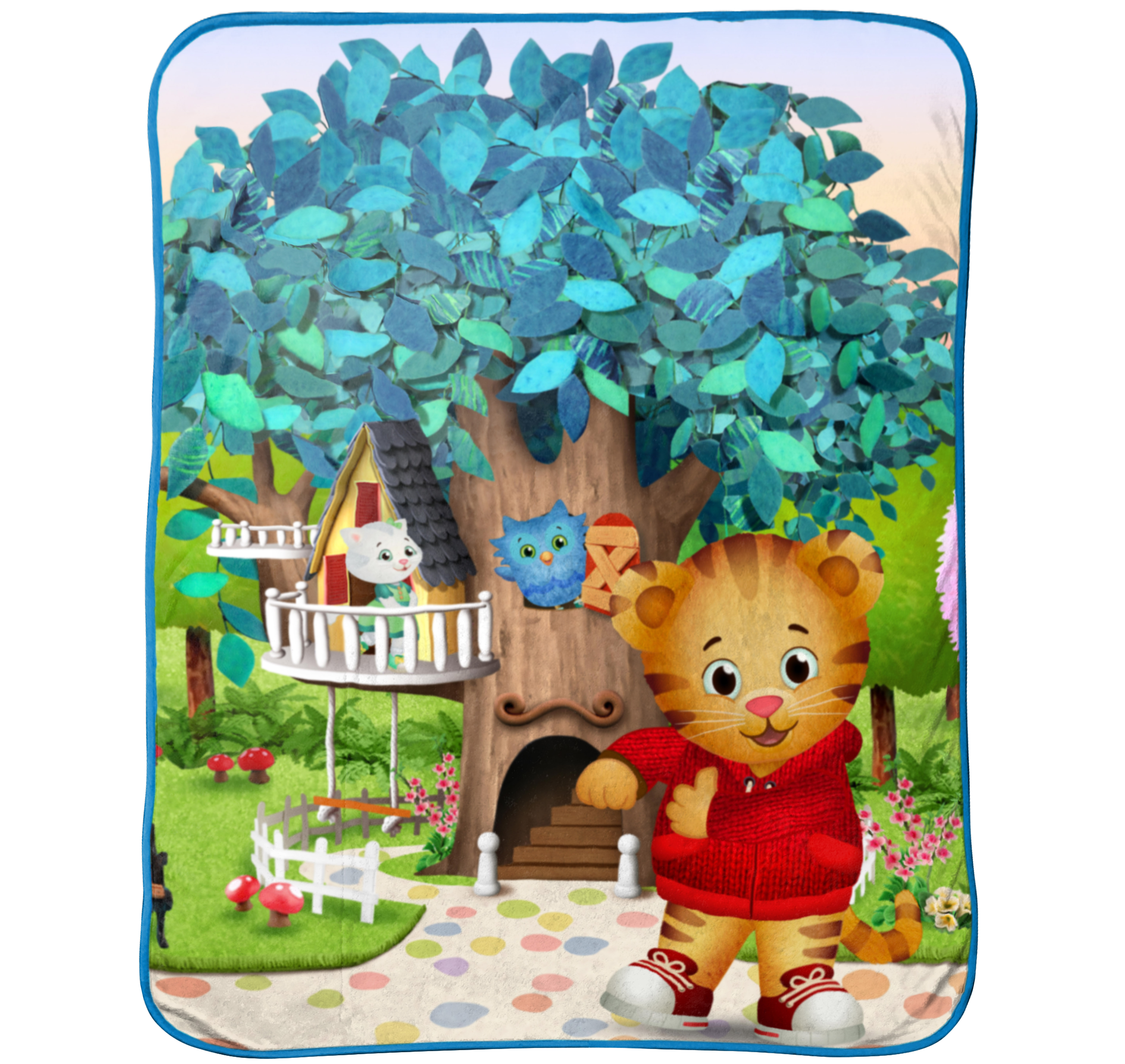 Disney Daniel Tiger Treehouse Pals Plush Throw Blanket