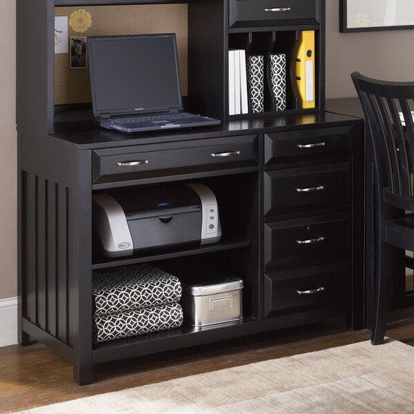 Aspenhome Warm Cherry Executive Modular Home Office: Liberty Furniture Hampton Bay Credenza Desk & Reviews