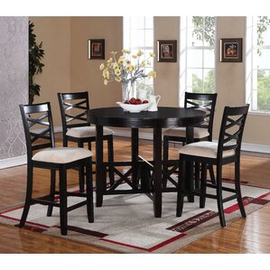 Levay 5 Piece Counter Height Dining Set b..