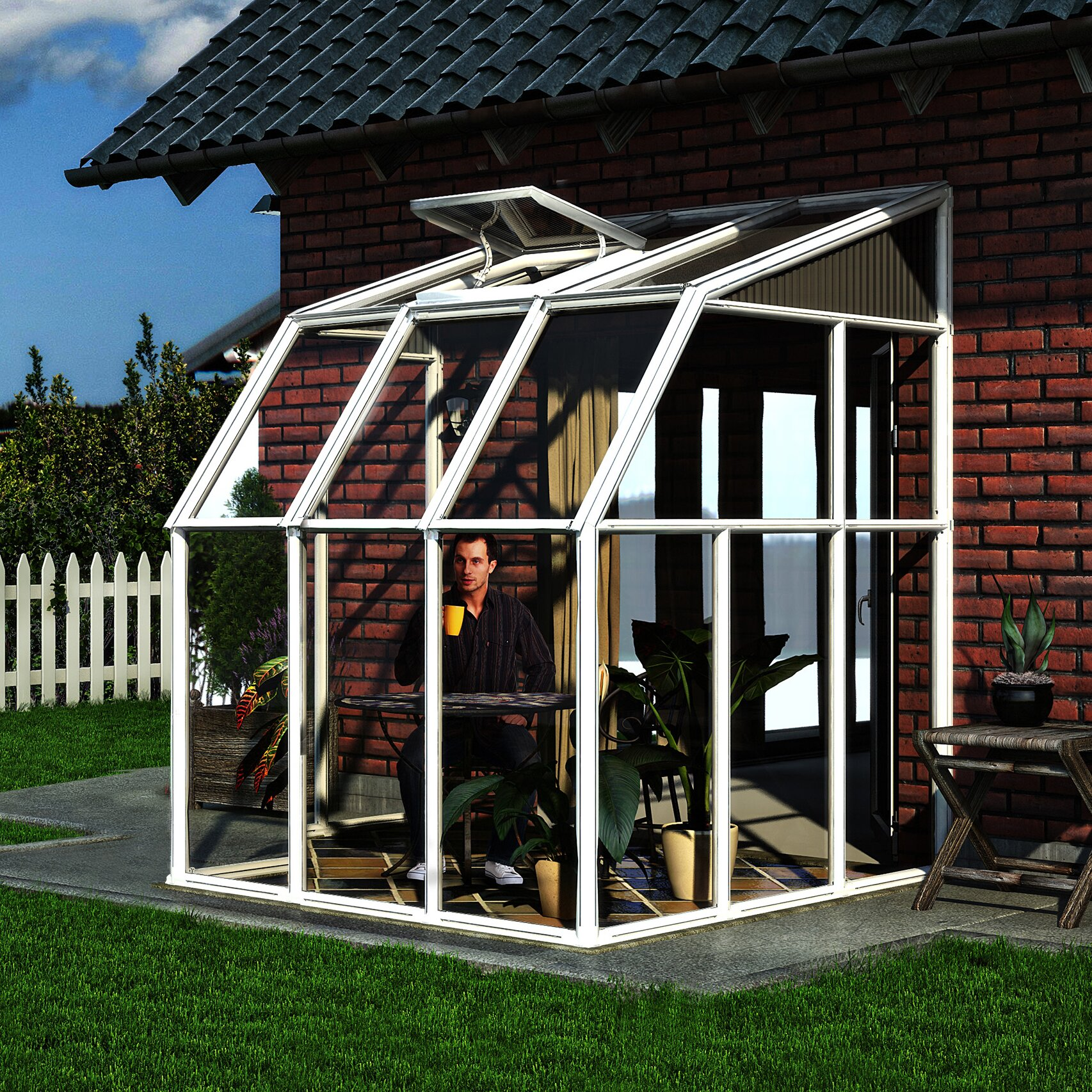 Rion Sun Room 2 6 Ft. W X 6 Ft. D Greenhouse
