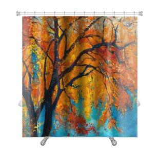 Gear New Leaves Autumn Leafs Fall Premium Single Shower Curtain Wayfair