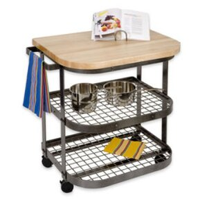 Premier Kitchen Cart with Wood Top by Enclume