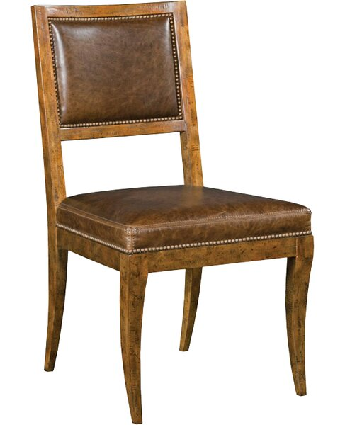 Woodbridgefurniture Genuine Leather Upholstered Dining
