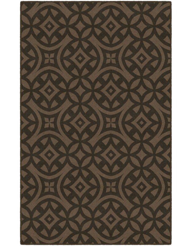 World Menagerie Merchant Trellis Brown Area Rug, Size: Rectangle 76 x 10