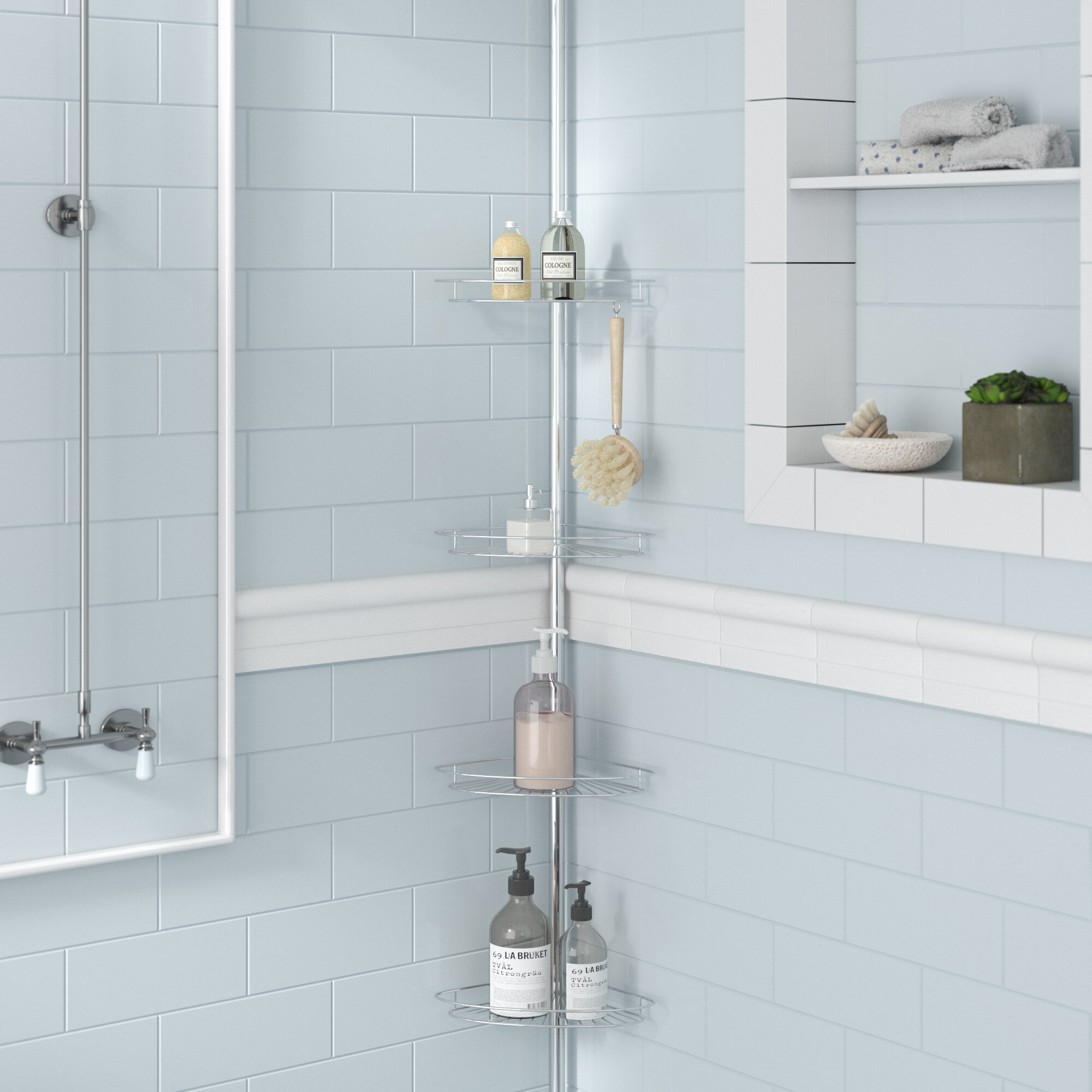 Zipcode Design Kohr Pole Shower Caddy | Wayfair