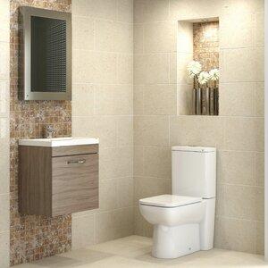 Badezimmer-Set Shipton mit beleuchtetem Spiegel ..