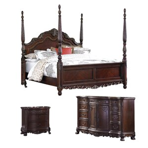Chalus Queen Four Poster Configurable Bedroom Set