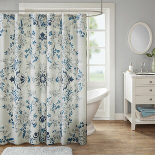 Breckenridge Printed Cotton Single Shower Curtain