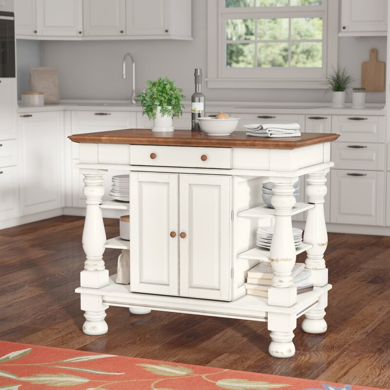 august grove collette kitchen island reviews wayfair