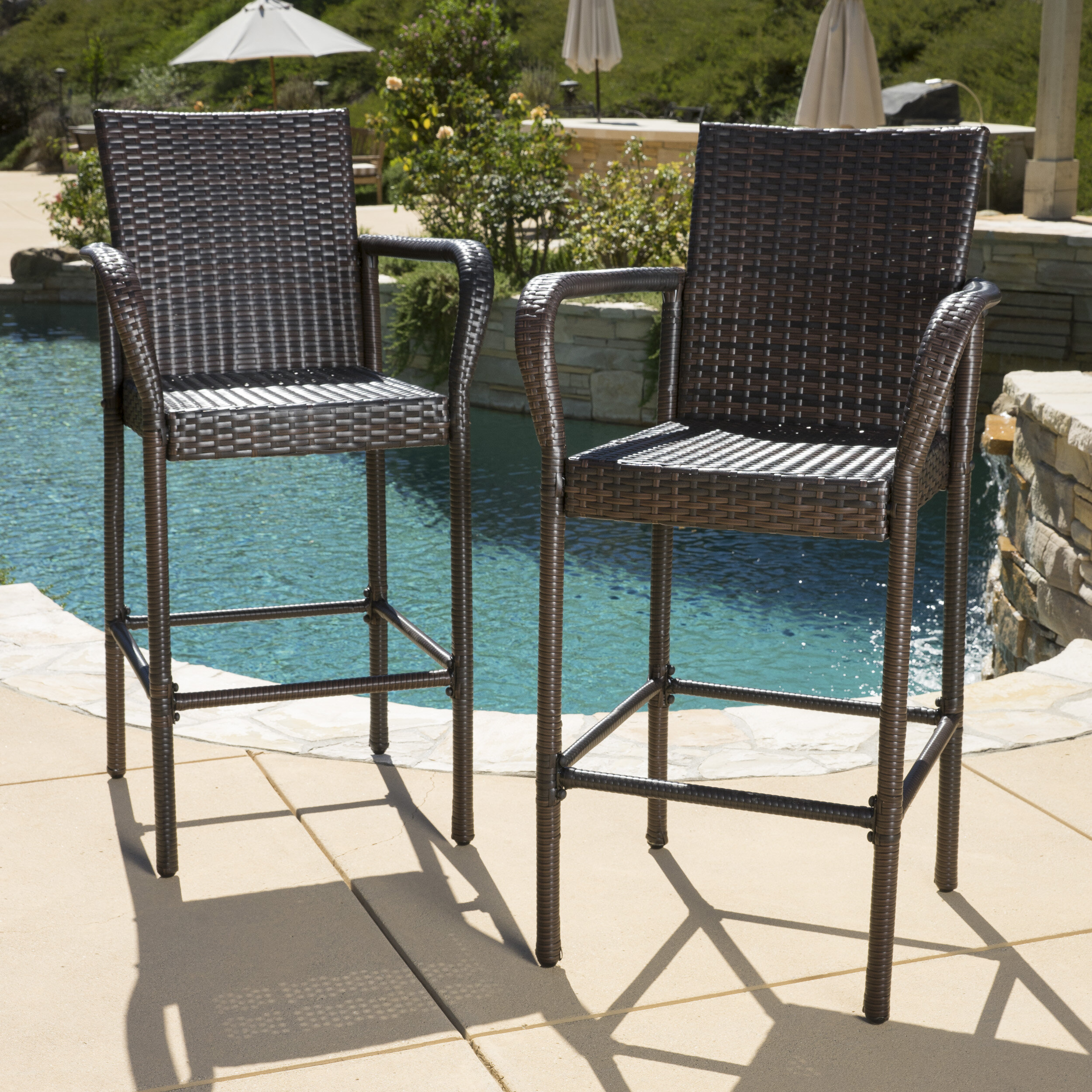 "Mercury Row Lansdale 30"" Patio Bar Stool & Reviews"
