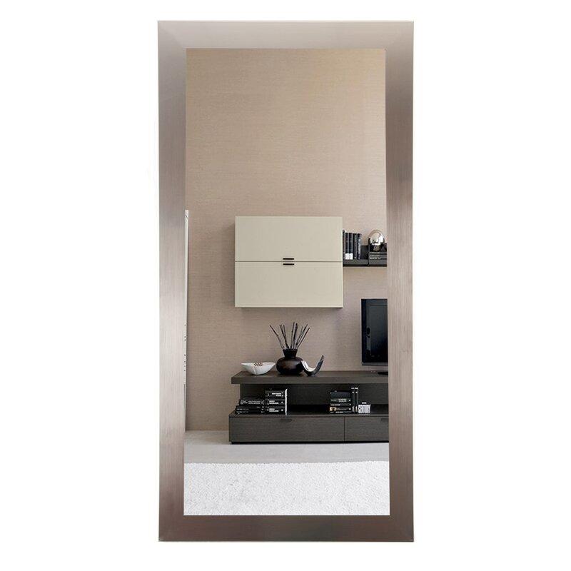 BrandtWorksLLC Designer Silver Floor Mirror | Wayfair