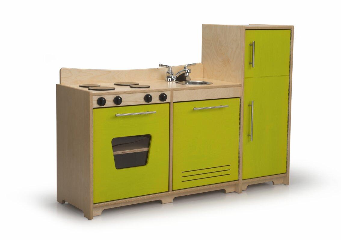 Beautiful 3 Piece Contemporary Toddler Kitchen Set
