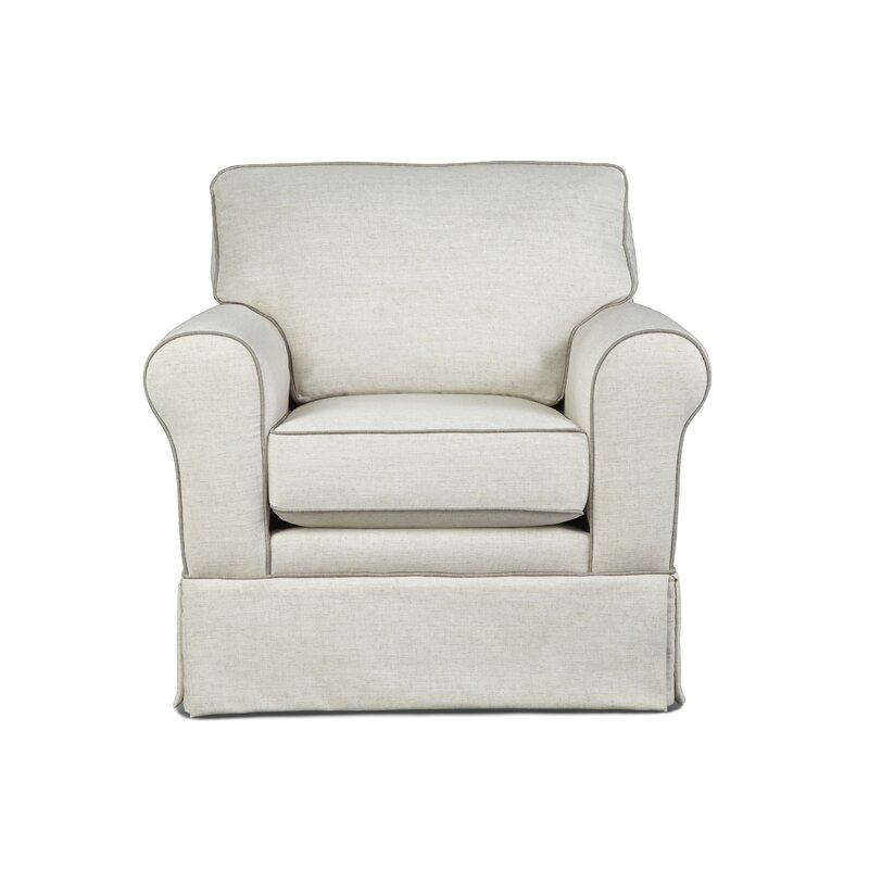 Annabel Rolled Arm Skirted Club Chair