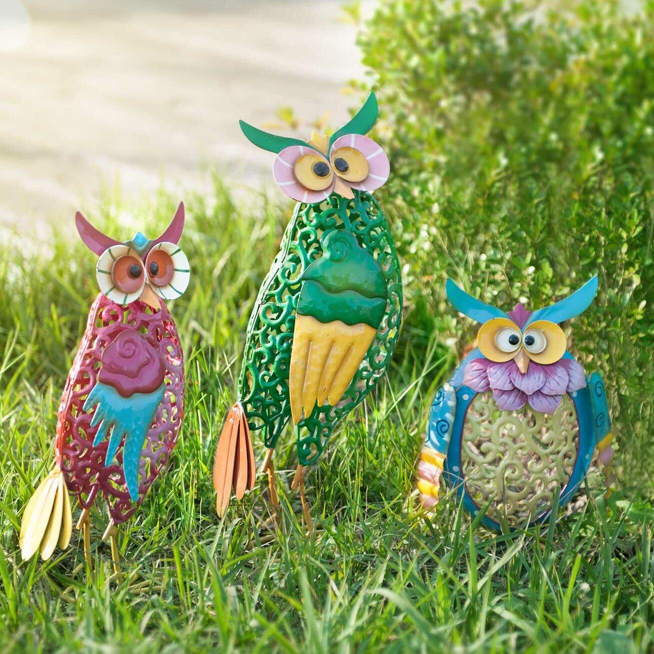 Superbe Sunjoy Whimsical 3 Piece Owl Garden Statue Set U0026 Reviews | Wayfair