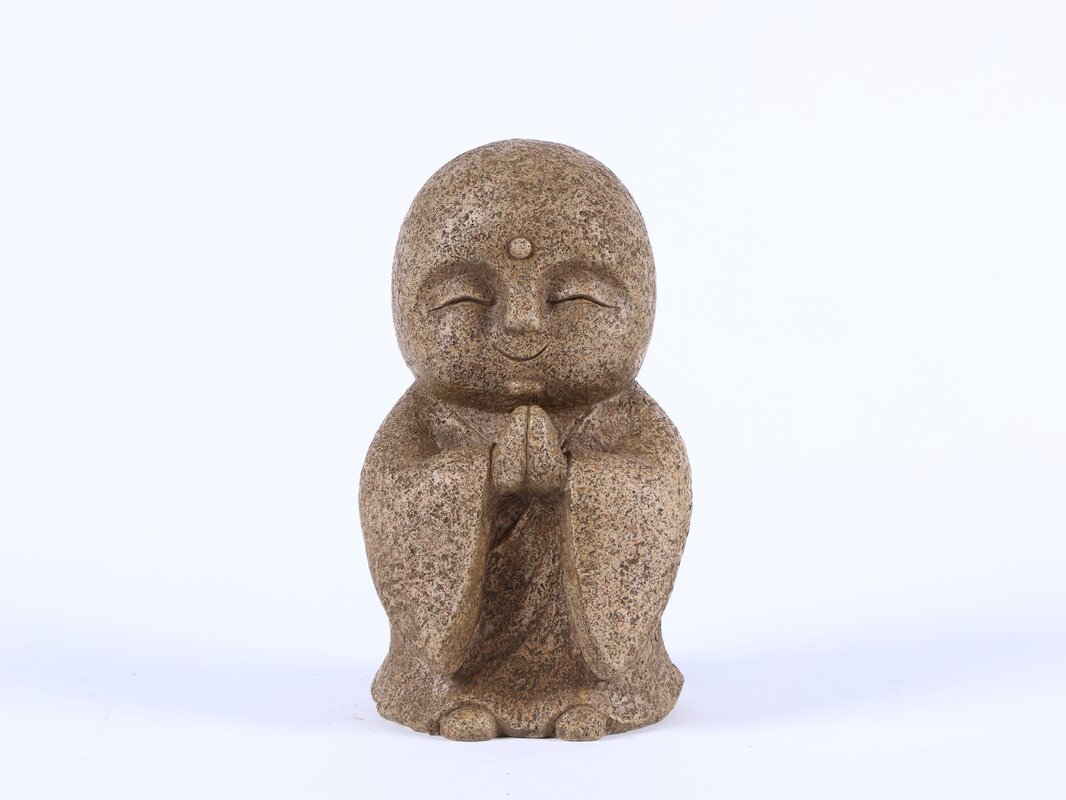 Praying Lucky Japanese Jizo Statue