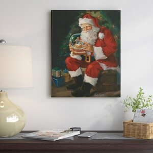 'Santa Believes' Painting Print on Wrapped Canvas