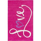 Zoomie Kids Alvin Hand-Tufted Bright Pink Area Rug