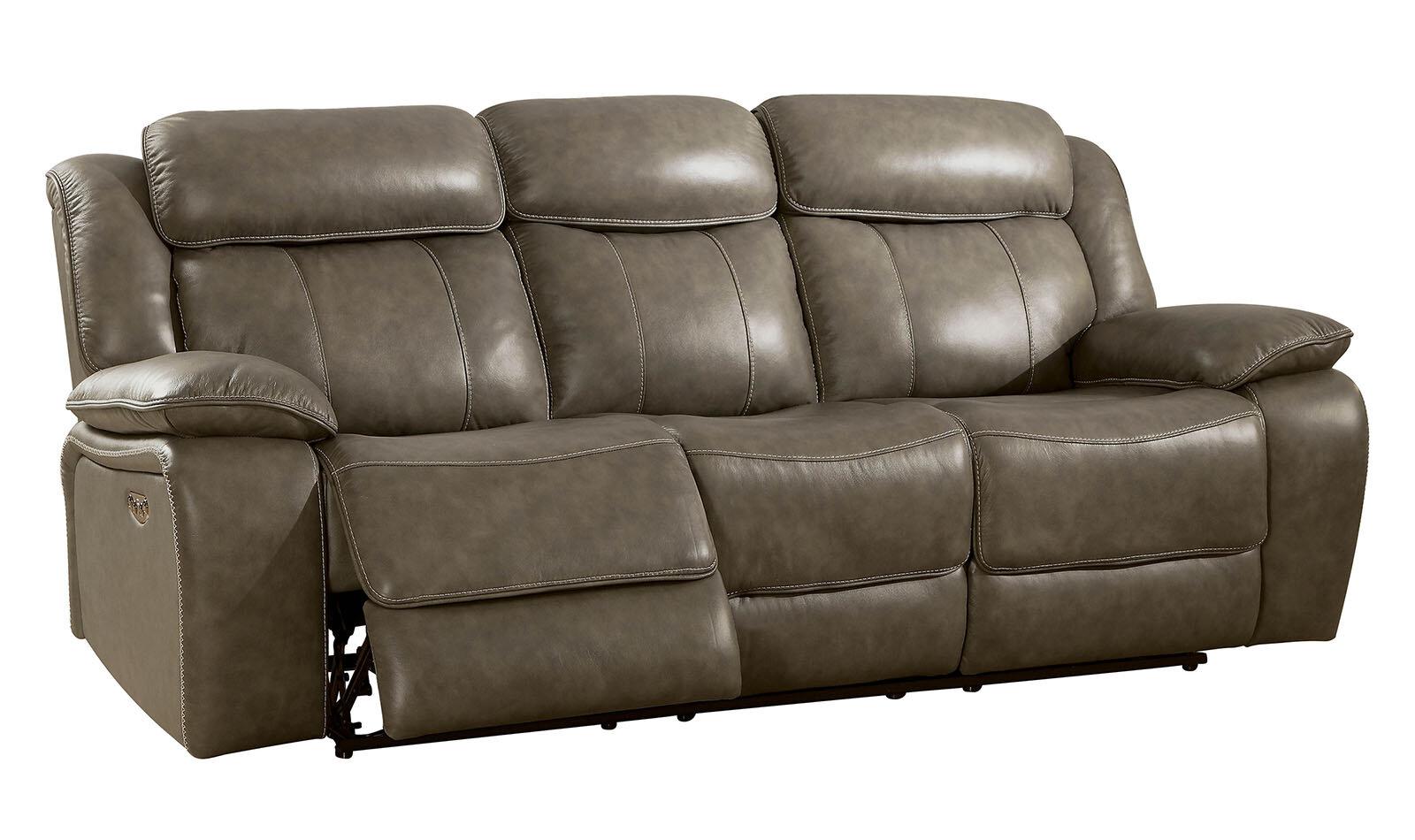 Heitzman Contemporary Sofa Leather Manual Wall Hugger Recliner