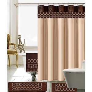 cream and brown shower curtain.  Brown Shower Curtains You ll Love Wayfair