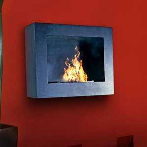 Pureflame Hestia Wall Mount Bio-Ethanol Fireplace by Aquafires