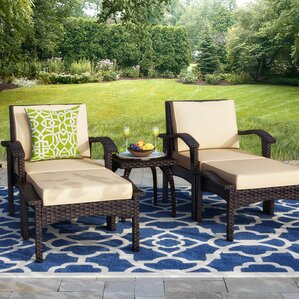 springboro 5 piece deep seating group with cushions - Resin Wicker Patio Furniture