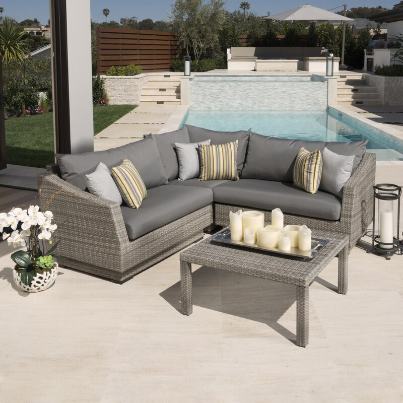 Castelli 4 Piece Sectional Sofa Set With Cushions