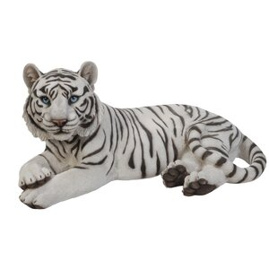Laying Down Tiger Figurine