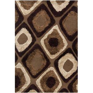 Iasos Brown/Tan Geometric Area Rug