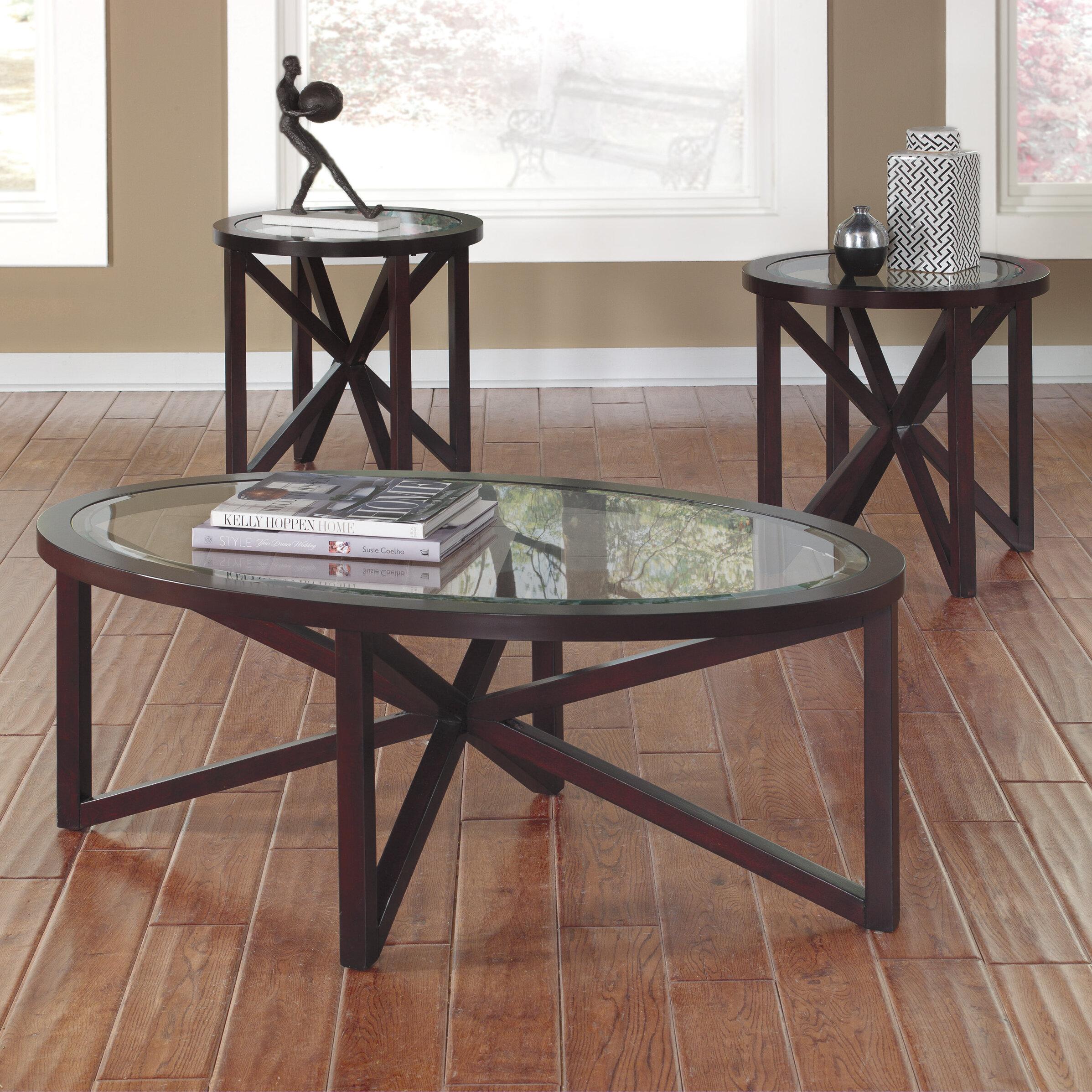 Signature Design by Ashley Sleffine 3 Piece Coffee Table Set