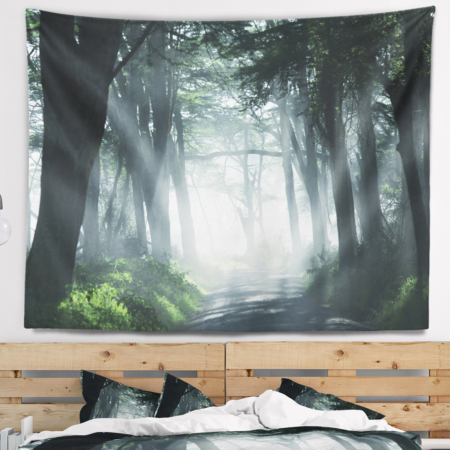 East Urban Home Landscape Dense Rain Forest at Sunrise Tapestry and ...