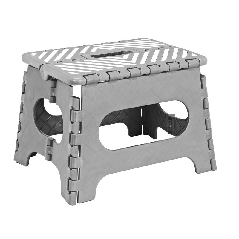 Simplify 1 Step Plastic Folding Step Stool With 200 Lb