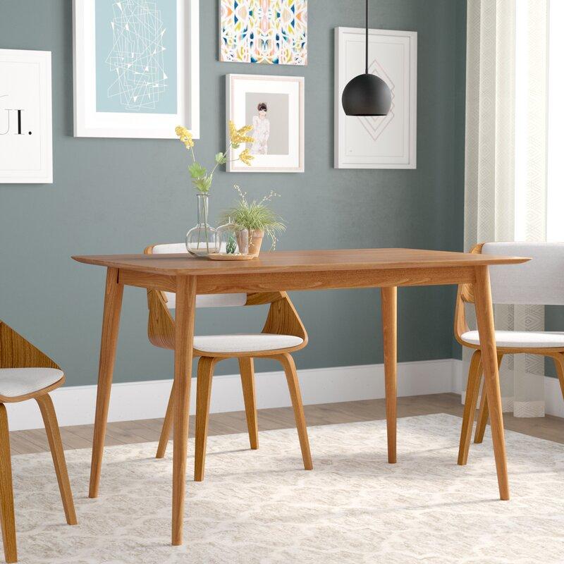 Mid Century Dining Table: Corrigan Studio Kaylen Mid Century Modern Wood Dining