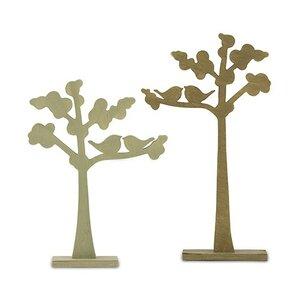 Shrewsbury Love Birds Die-cut Trees 2 Piece Wooden Sculpture Set