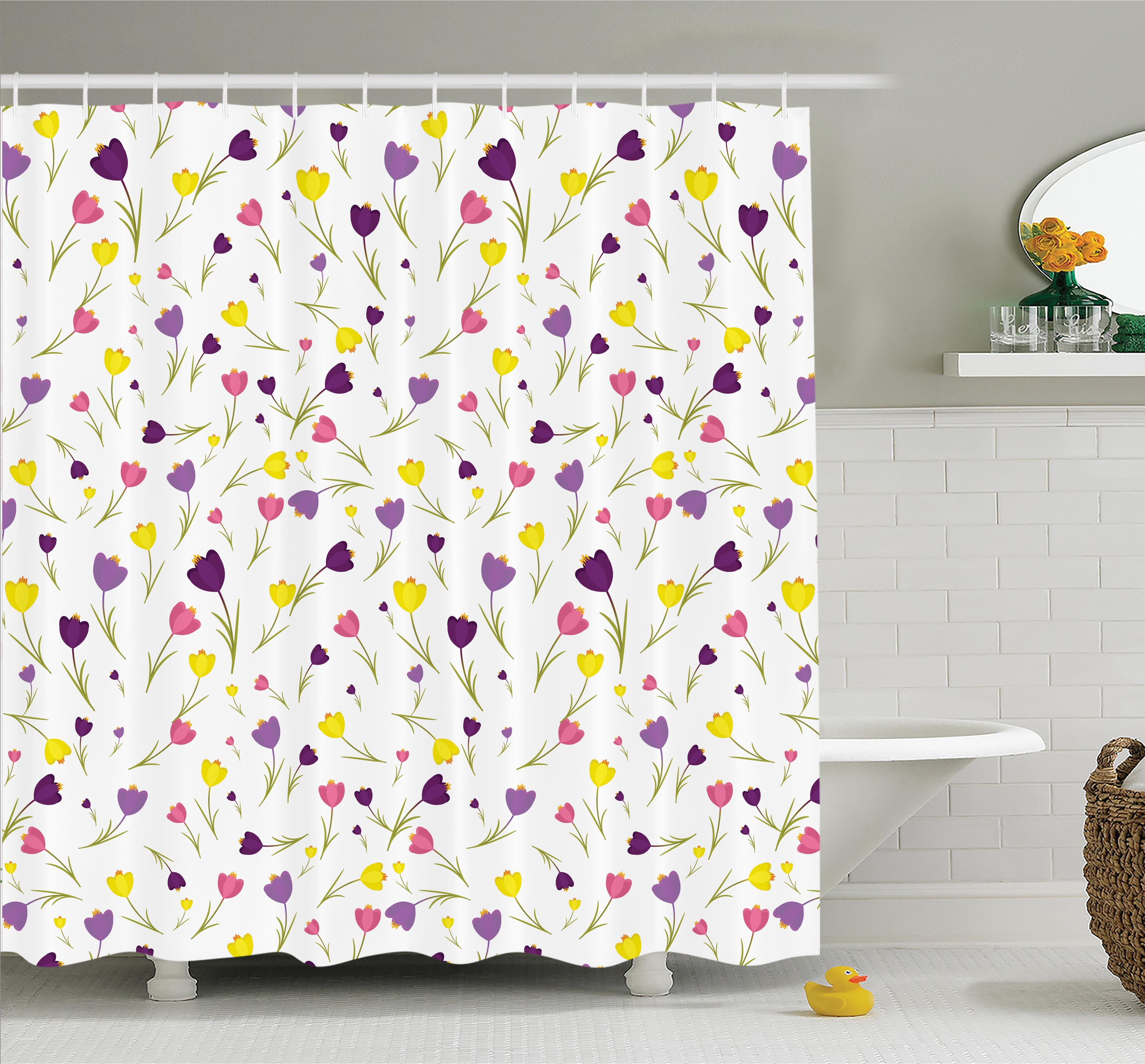 Harriet Bee Floyd Tulips Spring Romantic Shower Curtain Set