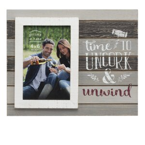 Messages & Moments 'Time to Uncork' Planked Picture Frame