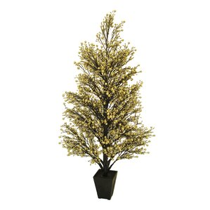 potted glittered berry 37 gold christmas tree - Gold Christmas Tree