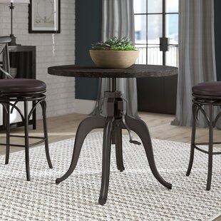 Woodbranch Industrial Crank Adjustable Pub Table