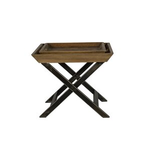 Union Rustic Garrison Coffee Table with Tray Top