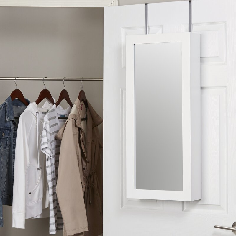 Kristen Jewelry And Makeup Cabinet Over The Door Jewelry Armoire With Mirror