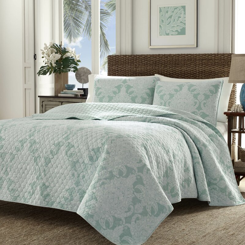 Tommy Bahama Bedding Pineapple Cape Harbor Reversible Quilt Set by ...